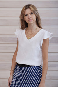 Delphine Top White