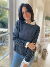 Jules Boyfriend Jumper Charcoal Grey