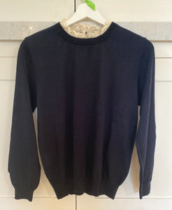 Katrina Navy Jumper