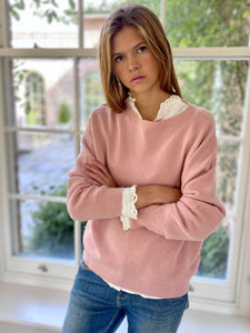 Jules Boyfriend Jumper Dusty Pink