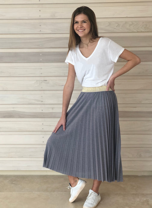 Maisie Skirt Blue Thistle