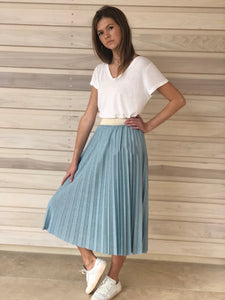 Maisie Skirt Duck Egg Blue