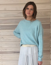 Jules Boyfriend Jumper Duck Egg Blue
