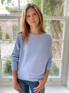 Jules Boyfriend Jumper Soft Blue