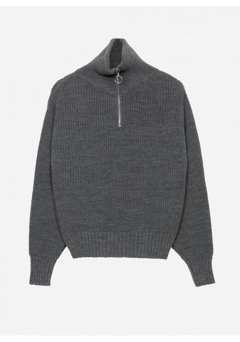 Thea Quarter Zip Jumper Grey