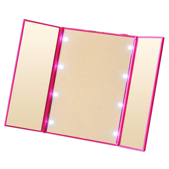 Foldable Travel LED Makeup Mirror