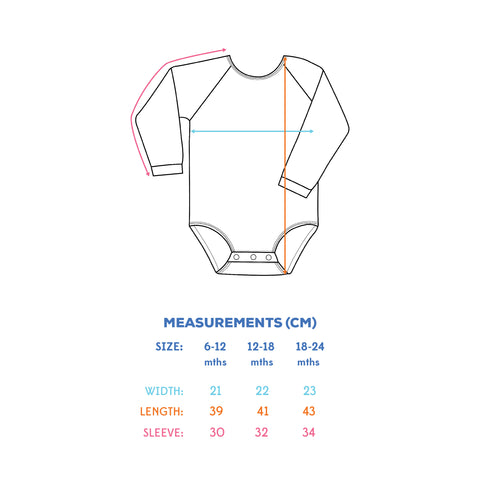 YTCO swimsuit sizing for babies