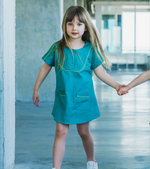 Unique Kids Clothing | Designed in Canada | Bib Tunic Dress | Playtime