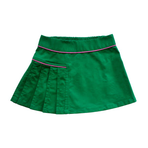 Pleated Skirt - Treasure Island Green