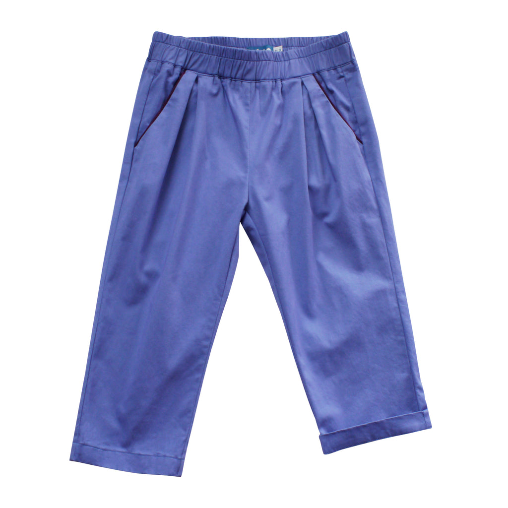 Pleated Trouser - Blue Ridge