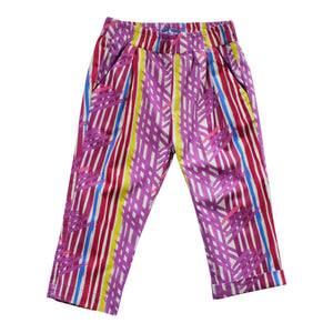 Pleated Trouser - Paint Stripes