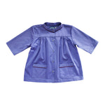 3/4 Sleeve Yoke Top - Blue Ridge