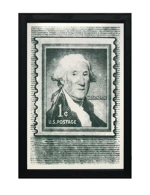 George Washington Poster - Postage Stamp Art - 13x19""