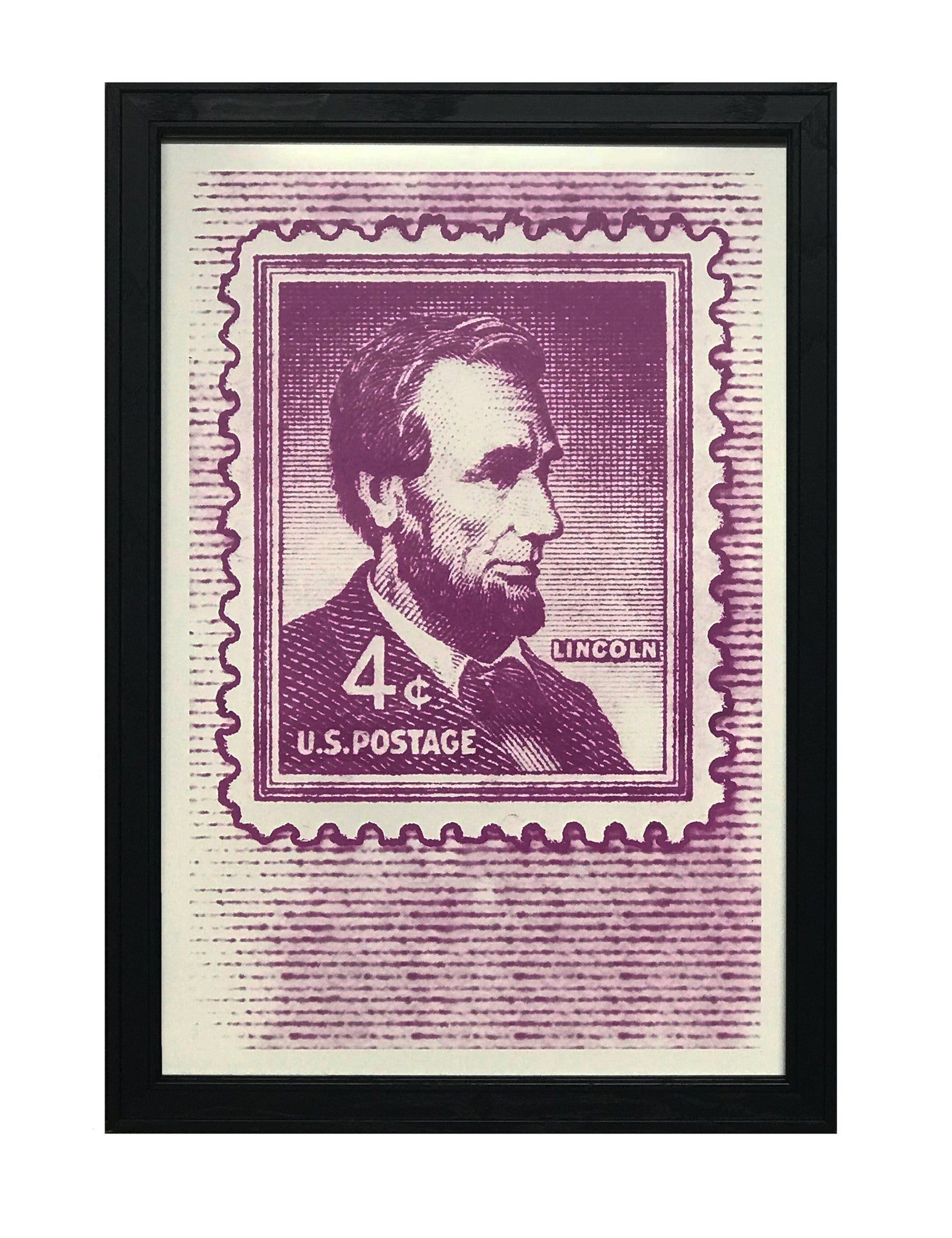 image relating to Printable Postage Stamps named Abraham Lincoln Poster - 1954 US Postage Stamp Artwork - 13x19