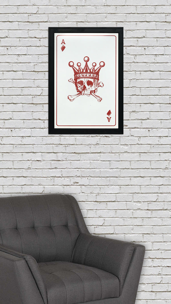 Ace of Diamonds Art Print / Poster - 13x19""