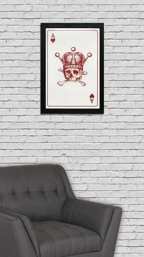 Ace of Hearts Art Print / Poster - 13x19""