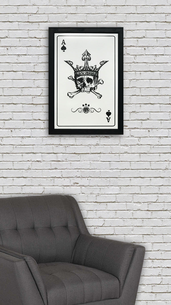 ace of spades poker player game room