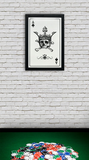 poker room wall art ace of spades