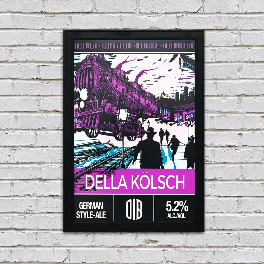 Old Irving Brewing Della Kolsch Craft Beer Poster - 13x19""