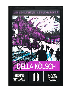 Old Irving Brewery Della Kolsch Craft Beer Poster - 13x19""
