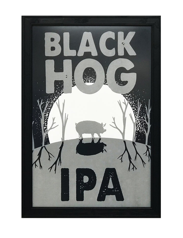 Black Hog Brewing IPA Craft Beer Poster - 13x19""