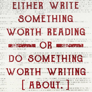Ben Franklin Poster Art - Write Something or Do Something Motivational Art Print Red - 13x19""