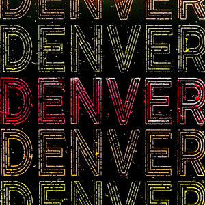 Denver Typography Poster - Handcrafted Art Print - 13x19""