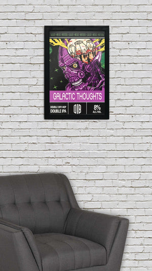 Old Irving Brewing Galactic Thoughts Double IPA Craft Beer Poster - 13x19""