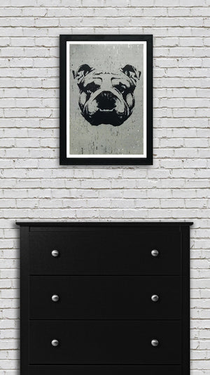 English Bulldog Art Poster - 13x19""