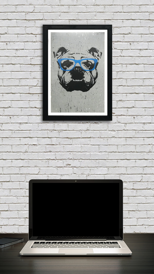 english bulldog wall art decor