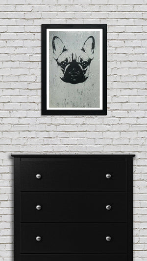 French Bulldog Art Poster / Print - 13x19""