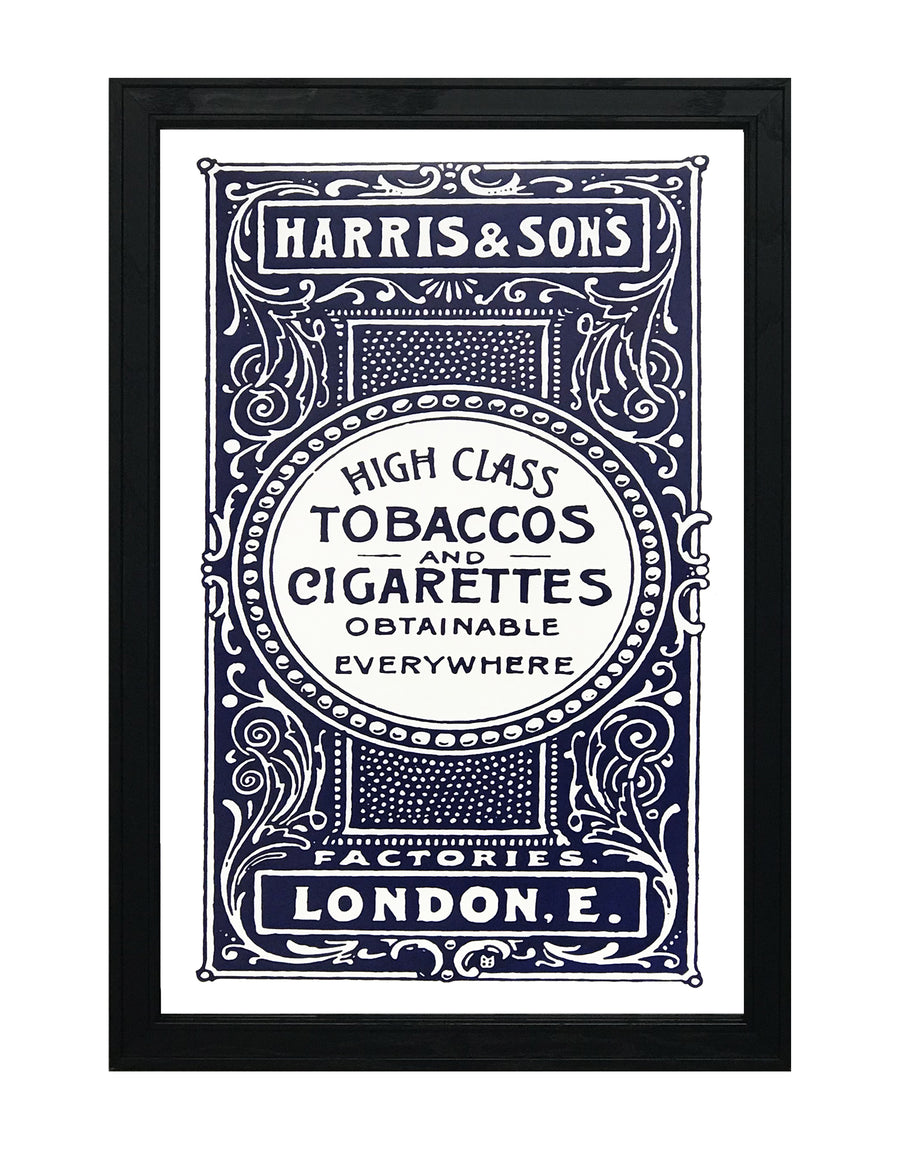 Harris and Son's Tobacco Vintage Advertisement Poster Art - Blue - 13x19""