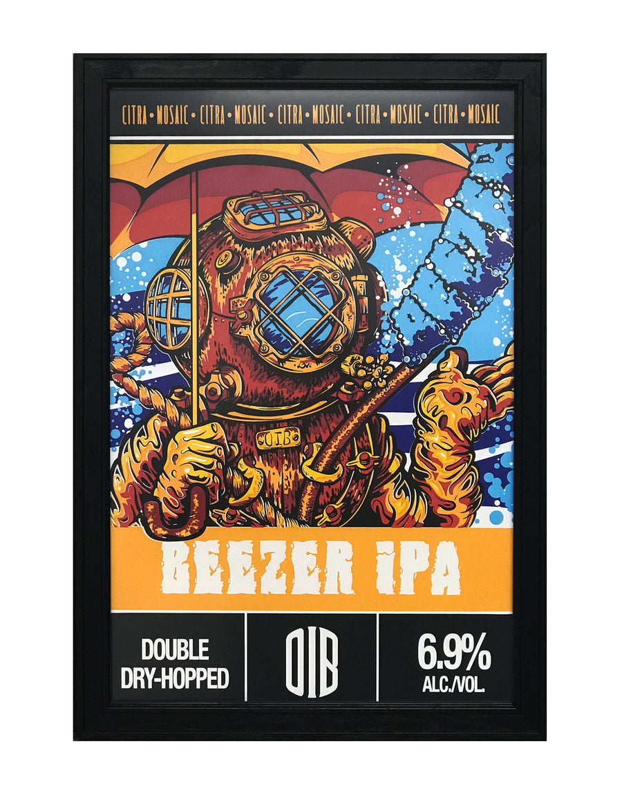 Old Irving Brewing Beezer IPA Craft Beer Poster - 13x19""