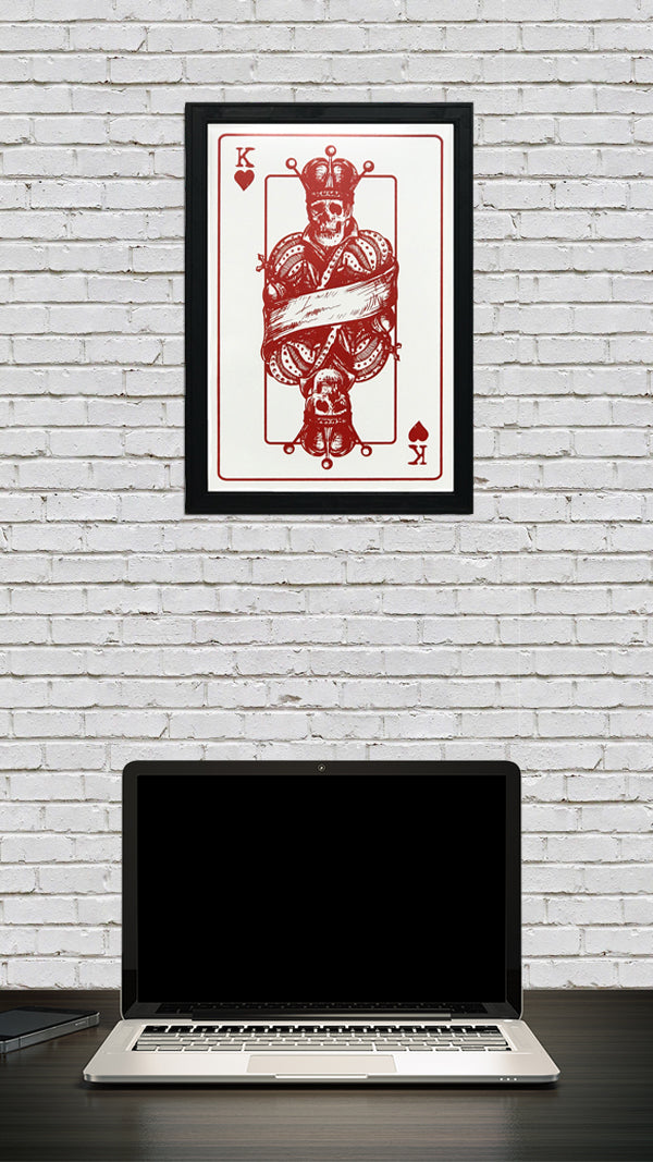 King of Hearts Poster Art Print - 13x19""