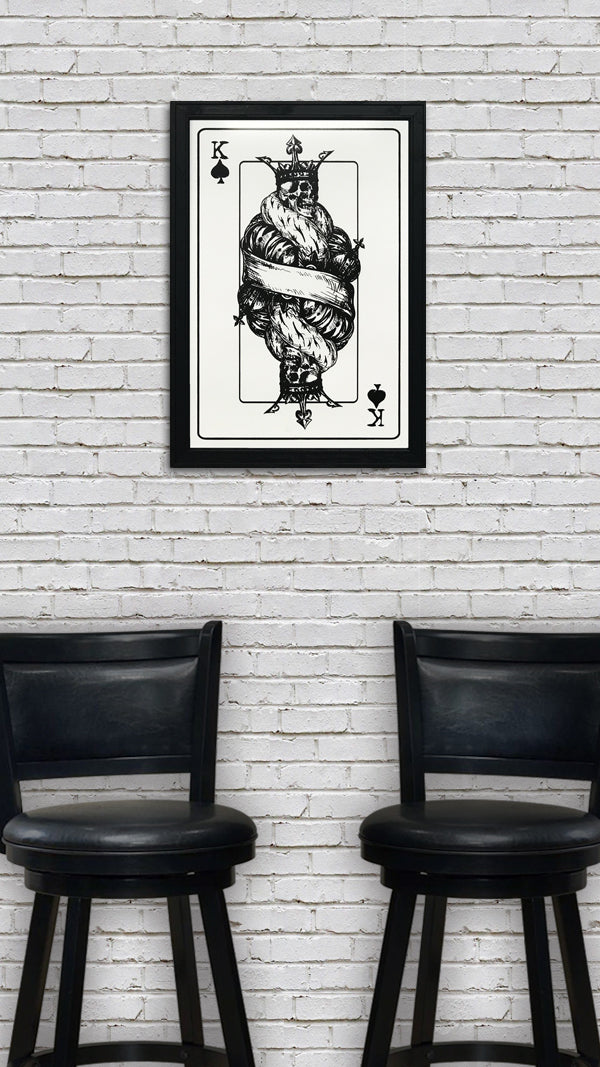 King of Spades Poster Art - Poker Room Decor - 13x19""