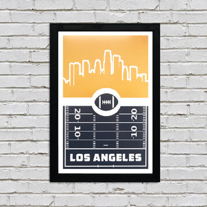 Los Angeles Chargers Poster Art - Retro Print 13x19""
