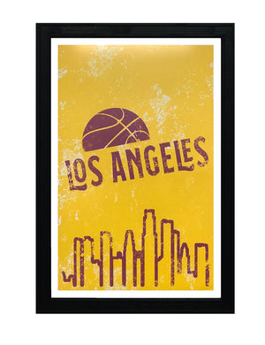 Vintage Los Angeles Lakers Poster Art - 13x19""