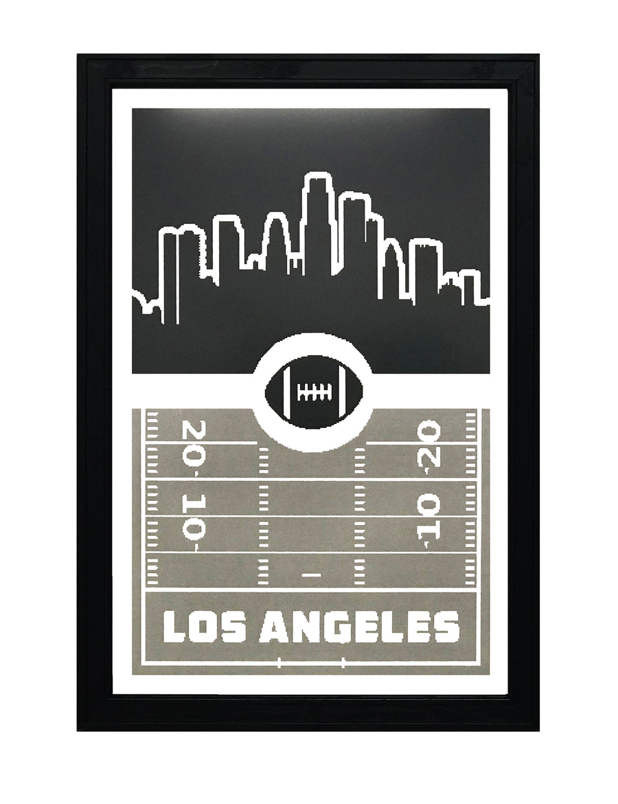 Los Angeles Raiders Poster - Retro Art Print 13x19""