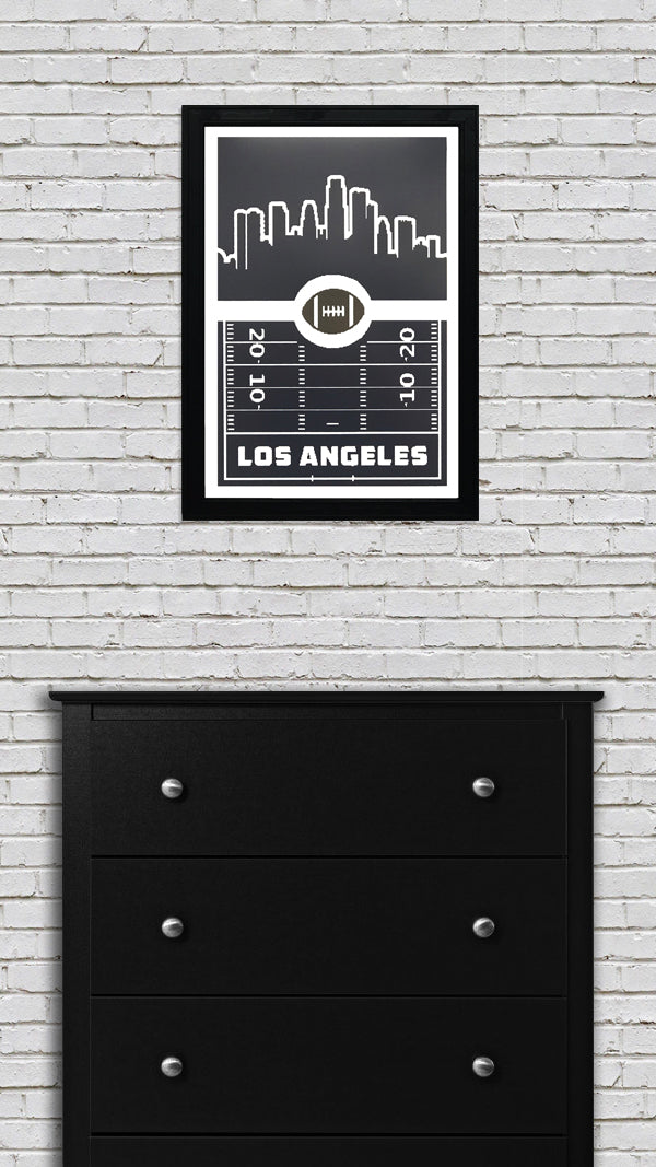 Los Angeles Rams Poster Art - Retro Print 13x19""