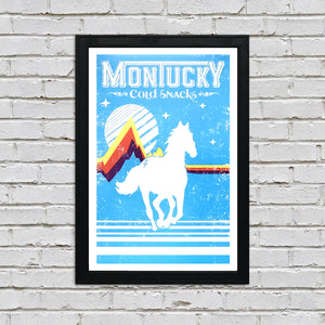 Montucky Cold Snacks American Lager Craft Beer Poster - 13x19""