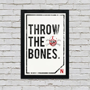 "Nebraska Cornhuskers ""Throw The Bones"" Blackshirts College Football Poster Art - 13x19"""