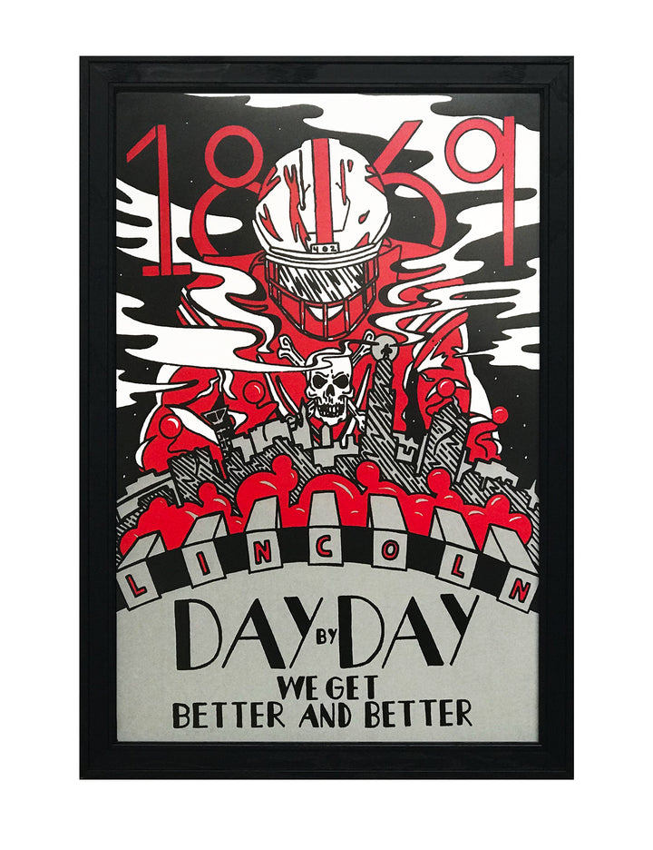 Day By Day Nebraska Cornhuskers College Football Poster - Artist Series featuring Justin Parker - 13x19""
