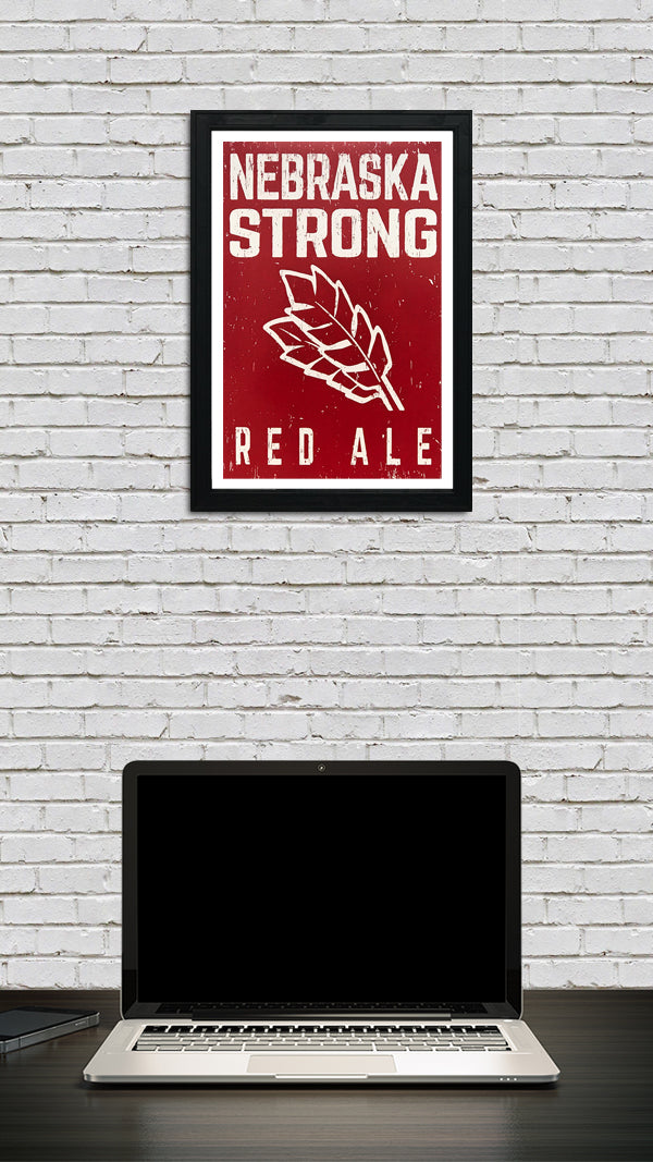9237e13f6 Nebraska Strong Red Ale Craft Beer Poster - Red - 13x19