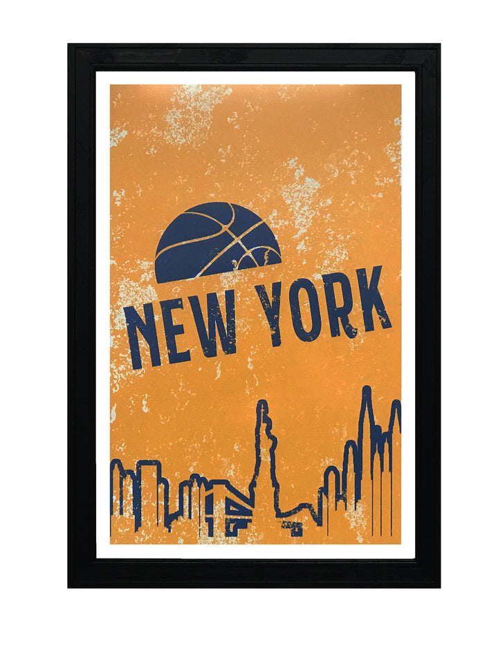 Vintage New York Knicks Poster Art - 13x19""