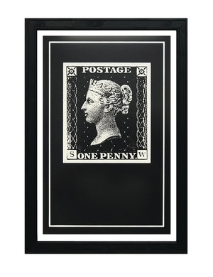 Penny Black Postage Stamp Art Poster - 13x19""