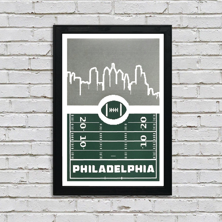 Philadelphia Eagles Poster - 8 Bit Retro Art Print - 13x19""