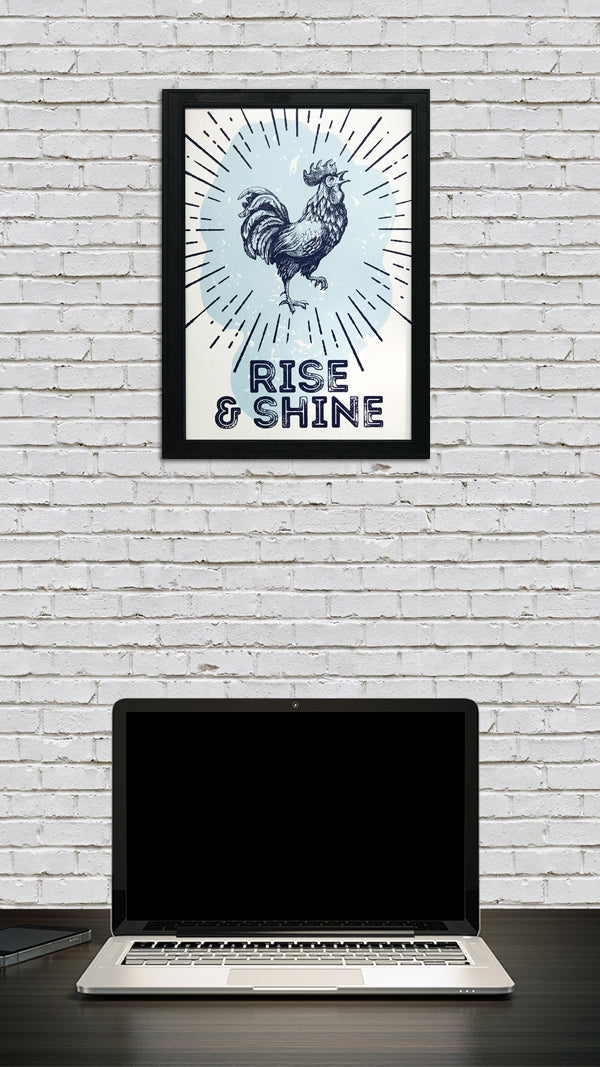 Rise and Shine Poster Art Print Blue - 13x19""