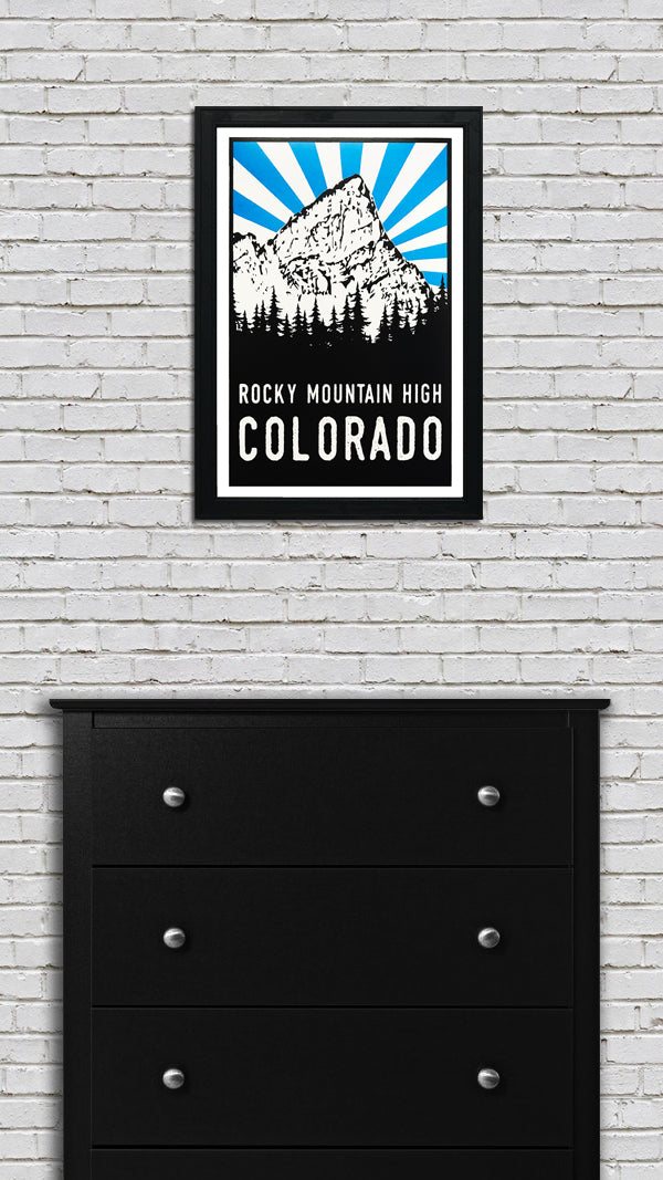 Crestone Peak Rocky Mountain High Colorado Art Poster - 13x19""