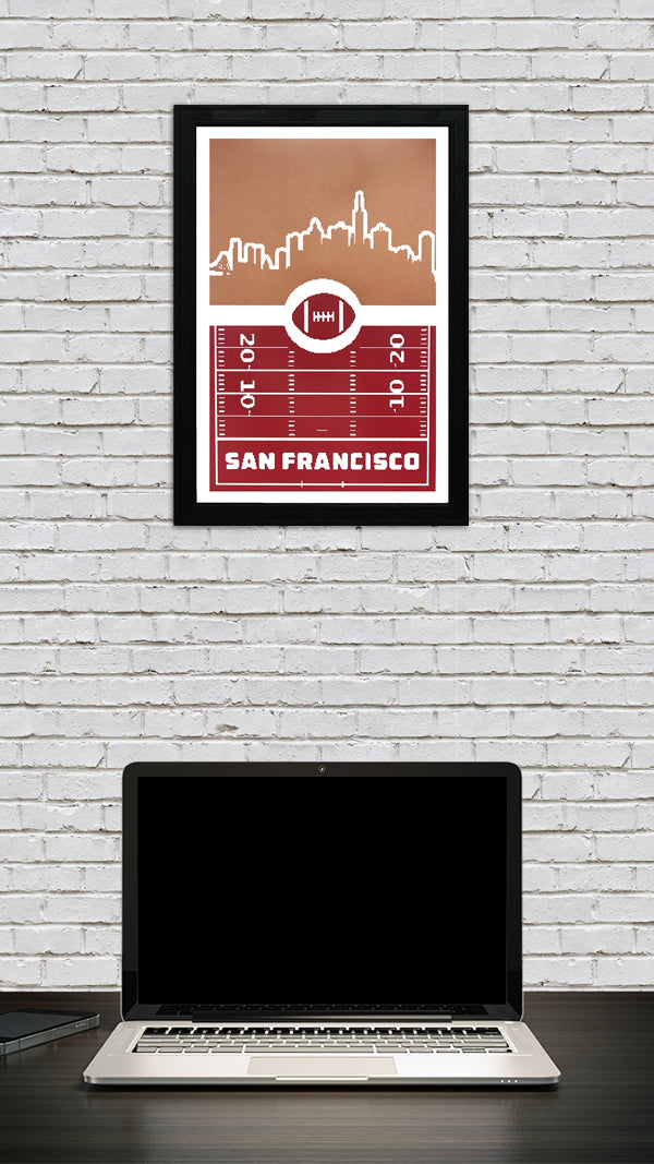 San Francisco 49ers Poster Art - Retro Print 13x19""