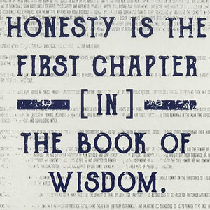 Thomas Jefferson Honesty First Chapter in Wisdom Quote Art Print Blue - 13x19""